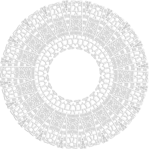 lace ornament scrapbooking