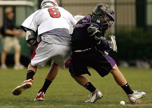 lacrosse competition collision