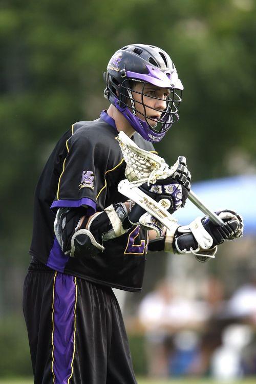 lacrosse lacrosse player helmet