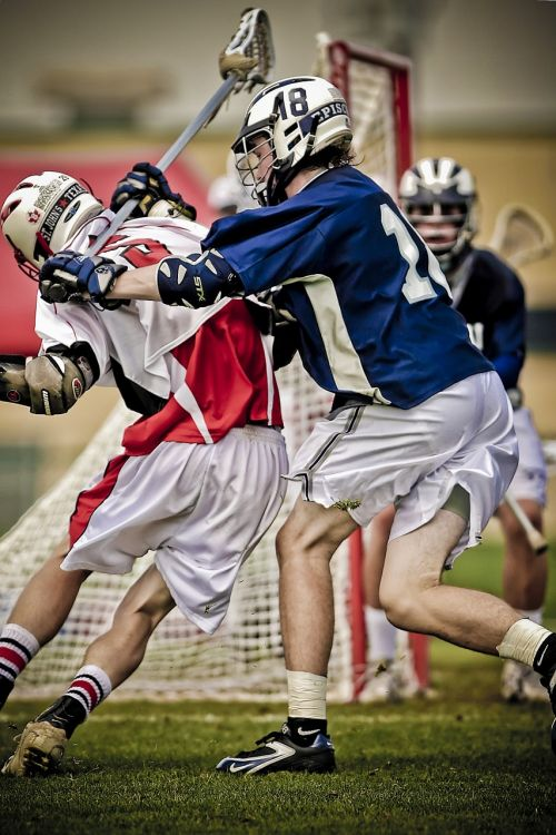 lacrosse hitting player