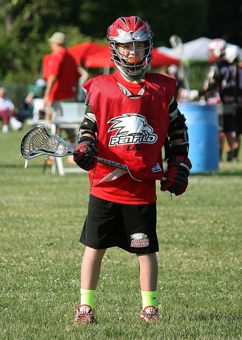 lacrosse player waiting
