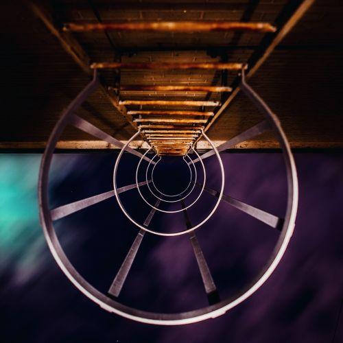 ladder fire escape ladder dark