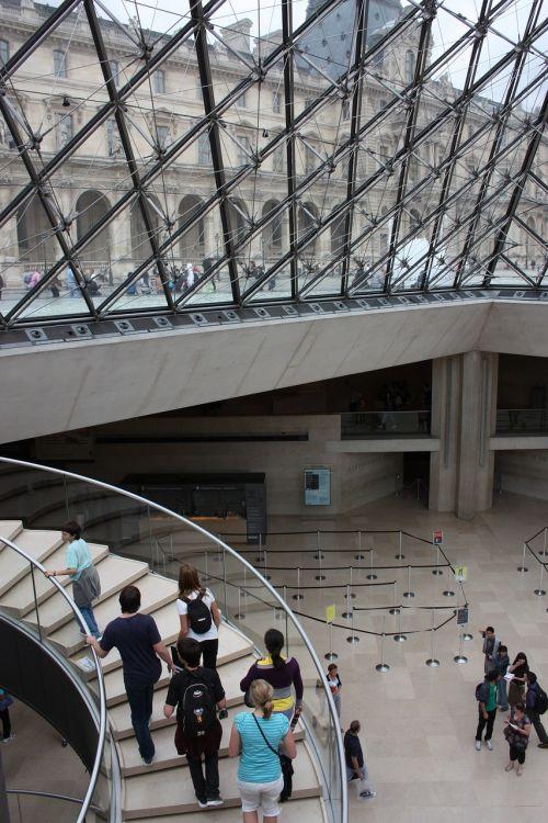 kopėčios,muziejus,paris,lova,geometrija,architektūra,moderni architektūra