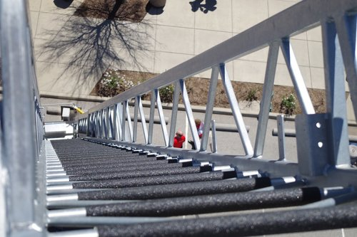 ladder  steel  outdoors