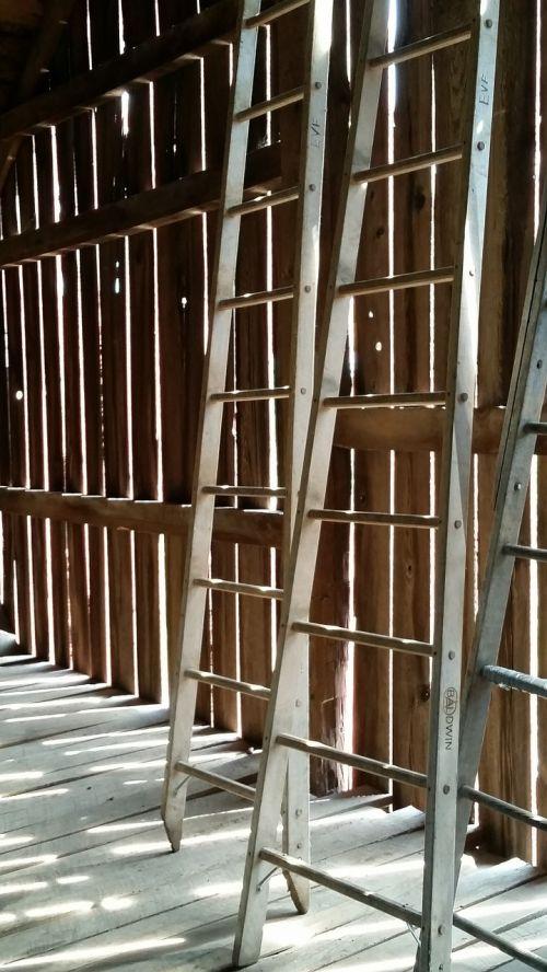 ladders barn slats