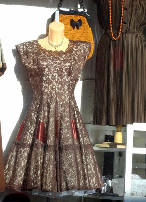 Ladies Dress In Shop Window