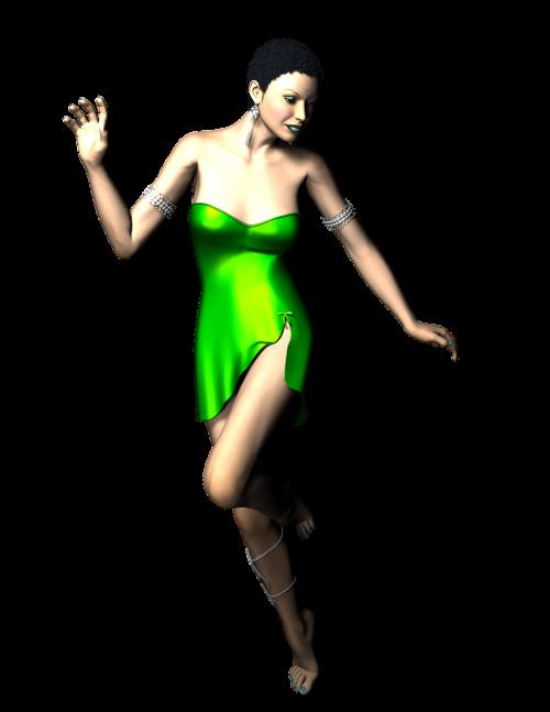 lady dance green