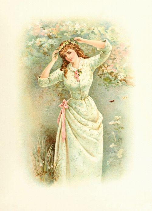 lady spring vintage