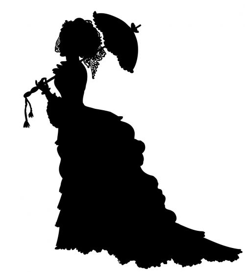lady victorian crinoline