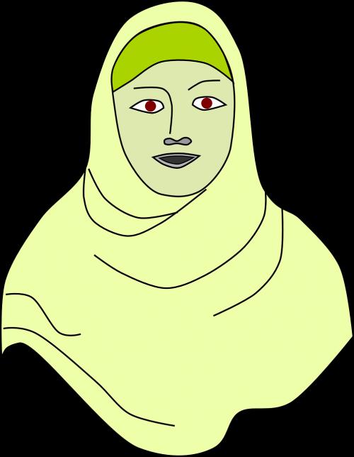lady female headscarf