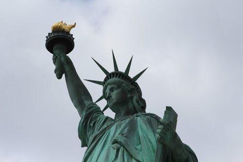 lady liberty  statue  landmark
