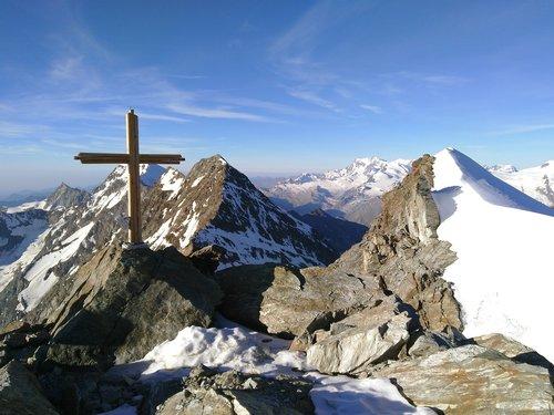 lagginhorn  fletschhorn  summit cross