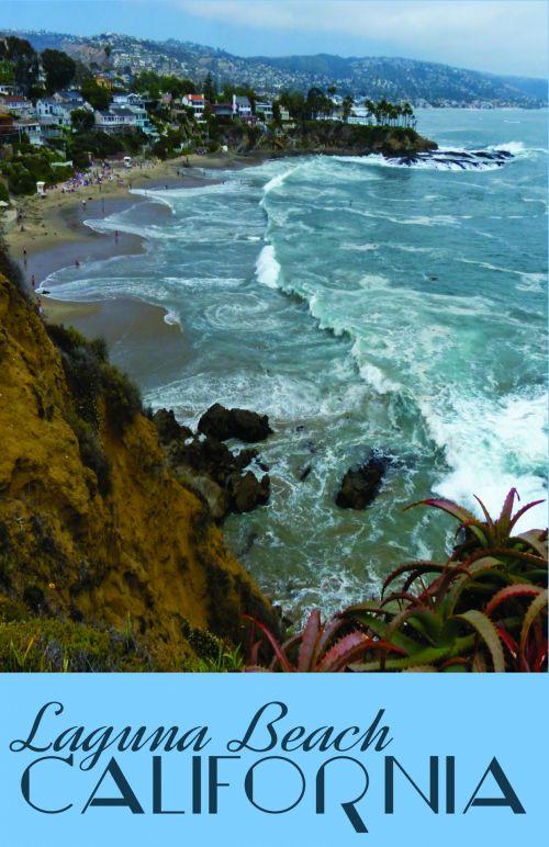 Laguna Beach Travel Poster