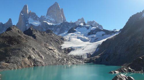 laguna de los tres lake glacier