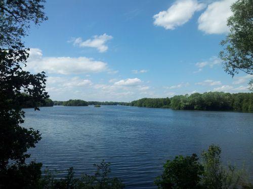 ežeras,debesys,medžiai,vaikščioti,Lan,kraštovaizdis,gamta,toli,nuotaika,nemokamai,atsipalaiduoti,išjungti,medis,pavasaris,vanduo