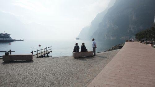 lake fog promenade