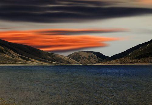 ežeras,saulėlydis,vakaras,vanduo,gamta,vaizdas,dangus,šventė,poilsis,poilsis,atostogos,šviesa