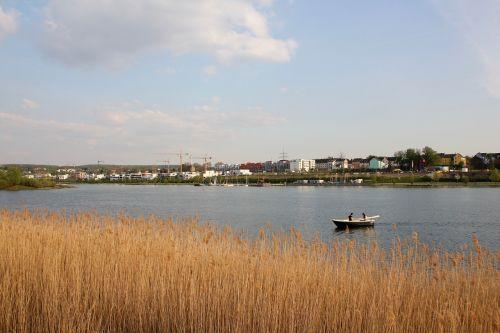 lake rowing boat peaceful