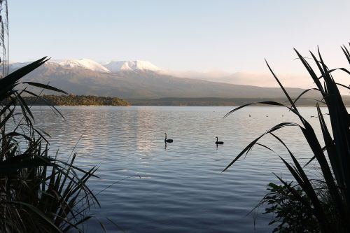 lake landscape volcano