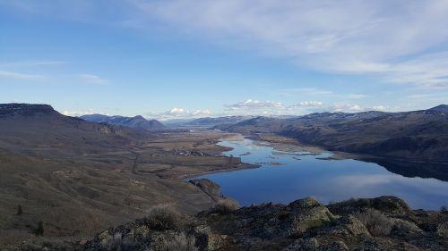 lake hiking vista