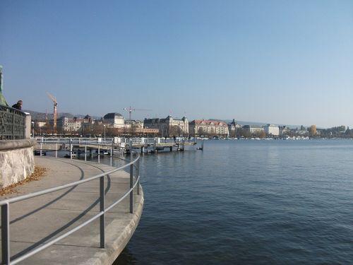 ežeras,Zurich,Promenada
