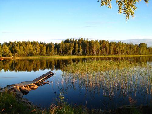 lake summer blue
