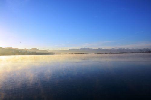 lake fog nature