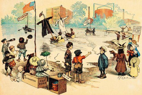 ežeras,parkas,valtys,vasara,vaikai,vaikai,komiksai,varzybos,konkursas,geltonas vaikas,1890 m .