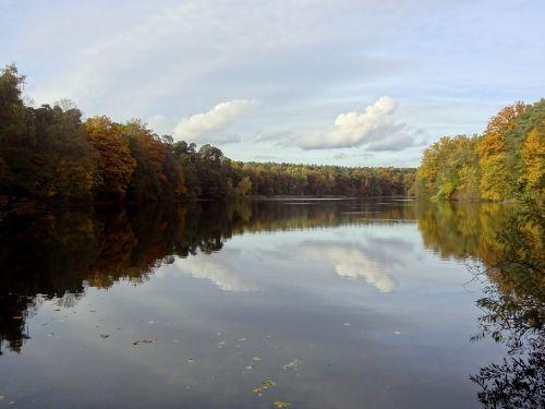lake krumme lanke autumn