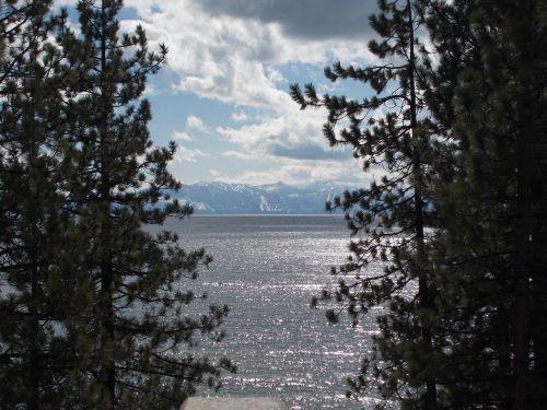 lake reflection silhouette