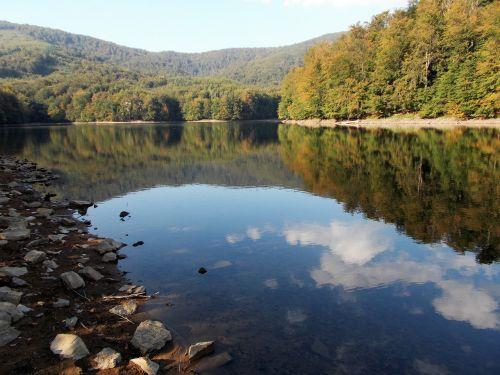 ežeras,vanduo,p,kalnai,gamta,medžiai,debesys,slovakija,atspindys,Šalis,miškai,pleso,upė