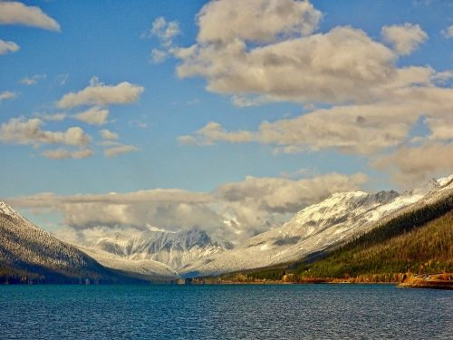 lake view mountains