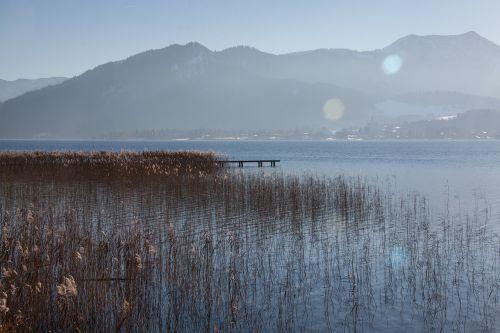lake mountains panorama