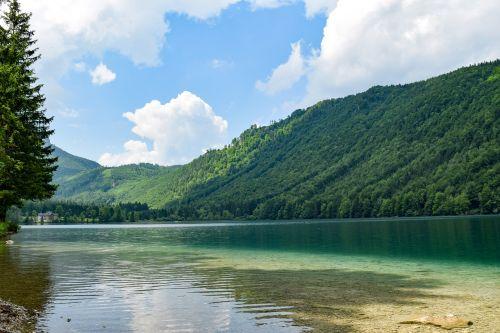 lake hiking clear water