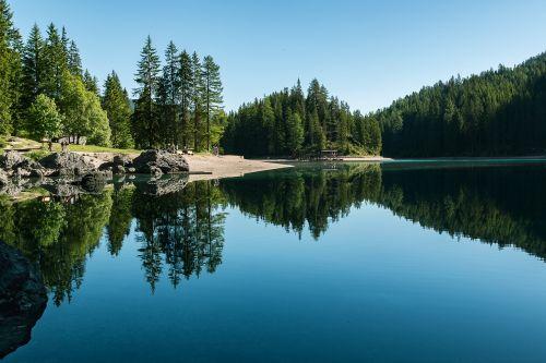 lake bergsee nature