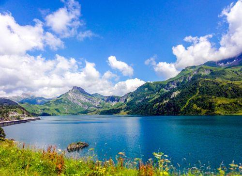lake blue lake alps