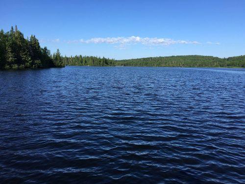 lake canada blue skies