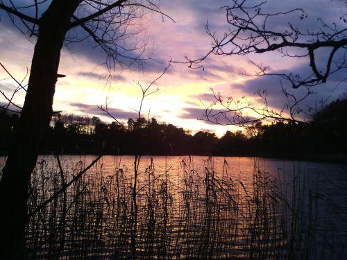 lake sky nature