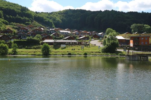 lake bergsee landscape