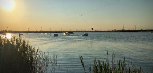 lake water wakeboard