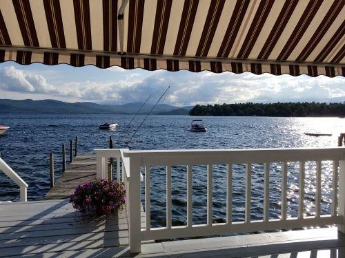 lake porch sky