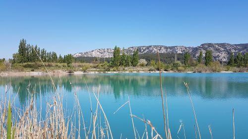 lake turquoise water landscape