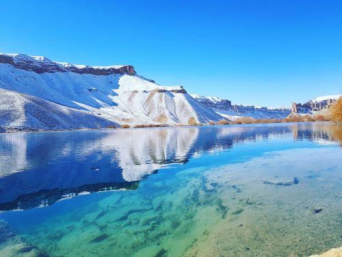lake clear water mountain