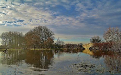 lake winter countryside