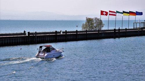 lake  bodensee  flag