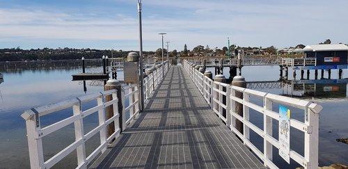 lake  wharf  merimbula