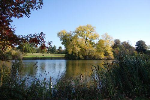 lake blue sky calmness