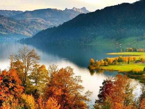 lake landscape autumn