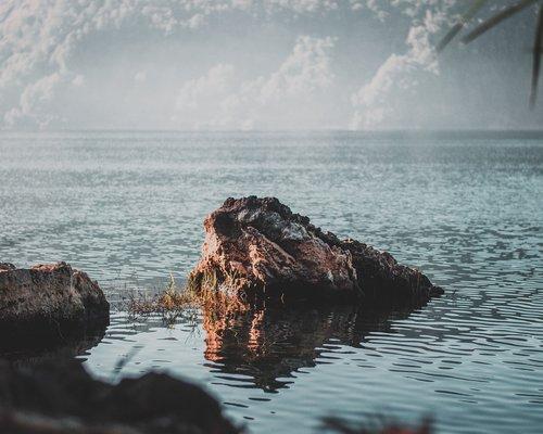 lake  rock  lanscape