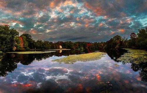 lake  clouds  water